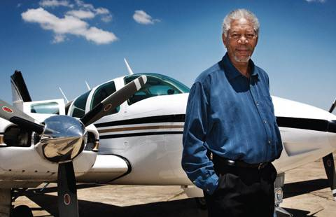 morgan freeman airplane