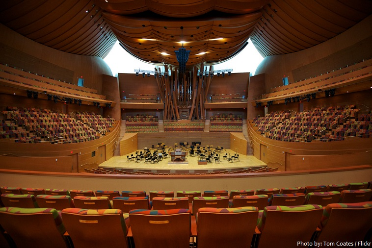walt disney concert hall inside