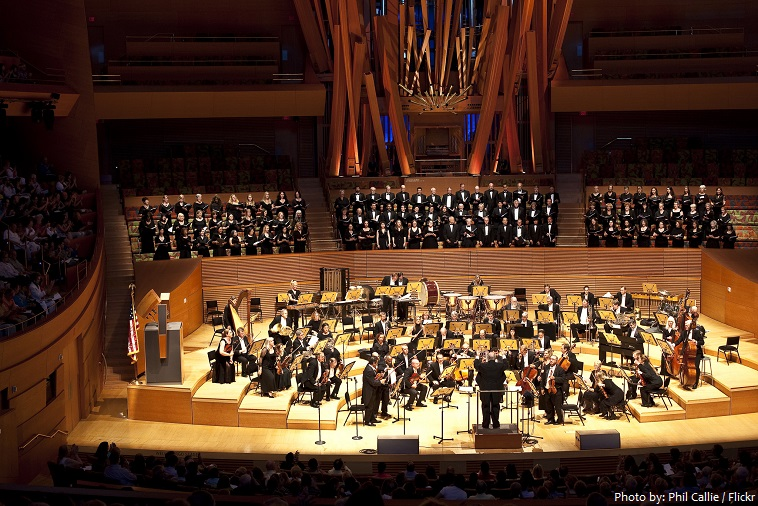 walt disney concert hall stage
