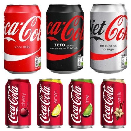coca cola varieties