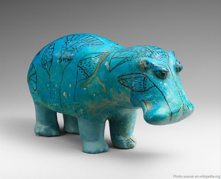 egyptian hippopotamus statuette william