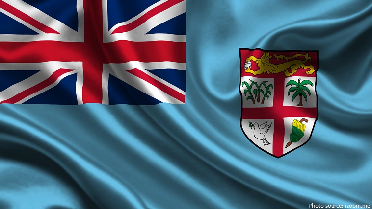 Image result for fiji island country Flag