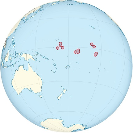 kiribati world map