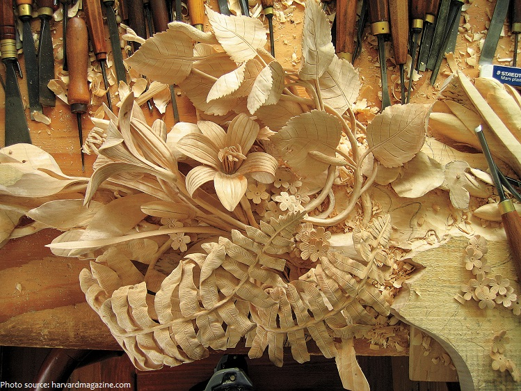 linden wood carving