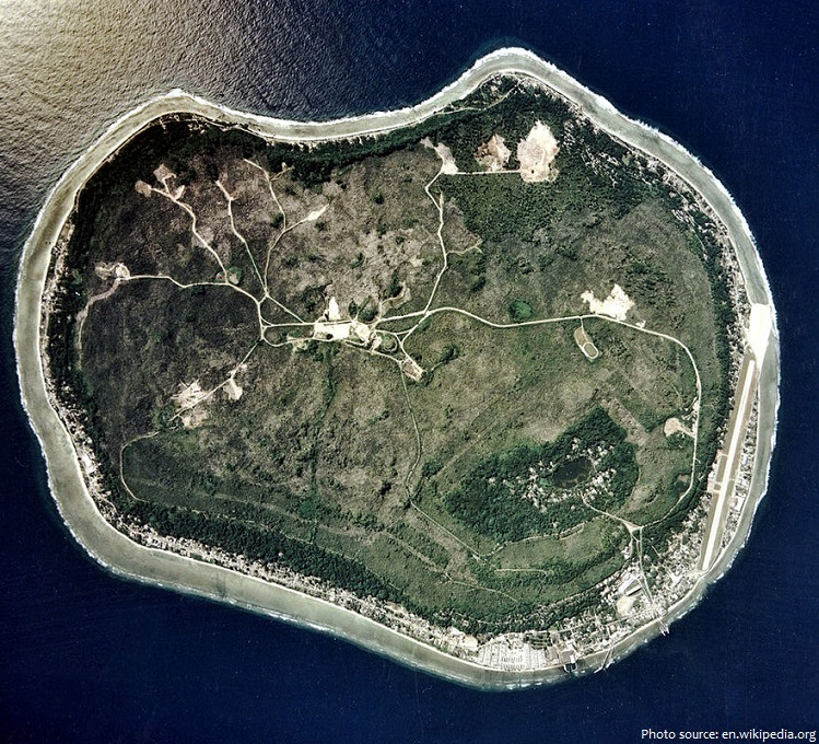 nauru satellite image