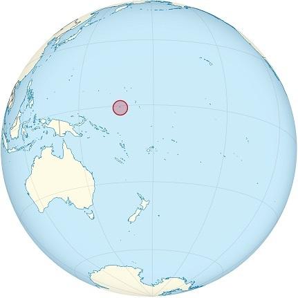 nauru world map