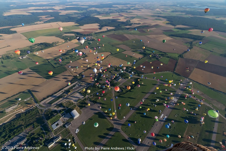the largest number of hot air balloons to take off at once