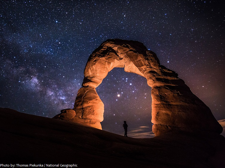 arches national park night stars