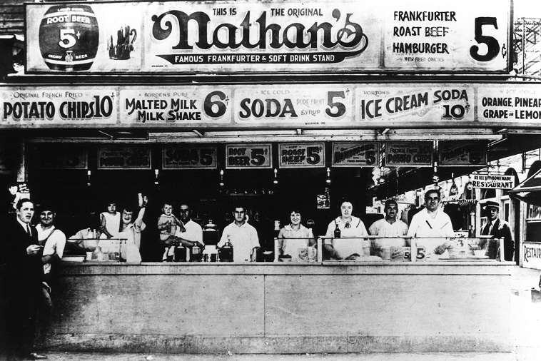 nathan's hot dogs history