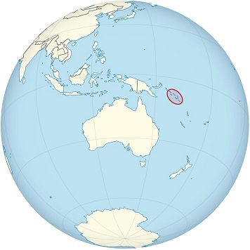 solomon islands world map