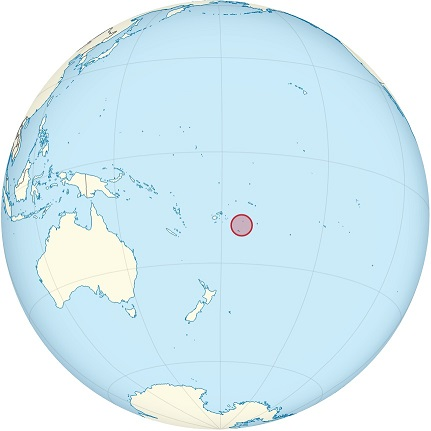 tonga world map