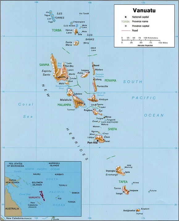 Interesting Facts About Vanuatu Just Fun Facts - Vanuatu map