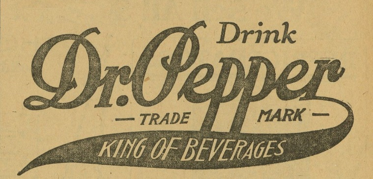 dr pepper old logo