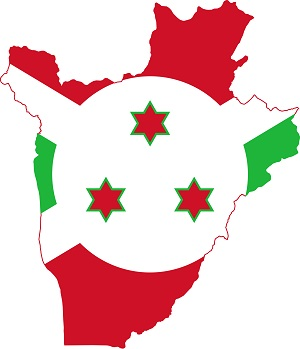 flag map of burundi