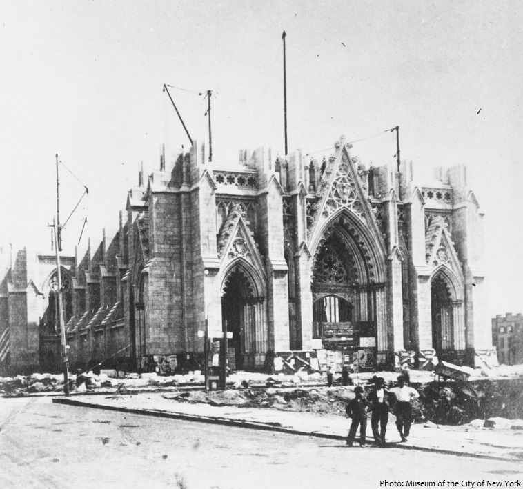 st patricks cathedral construction