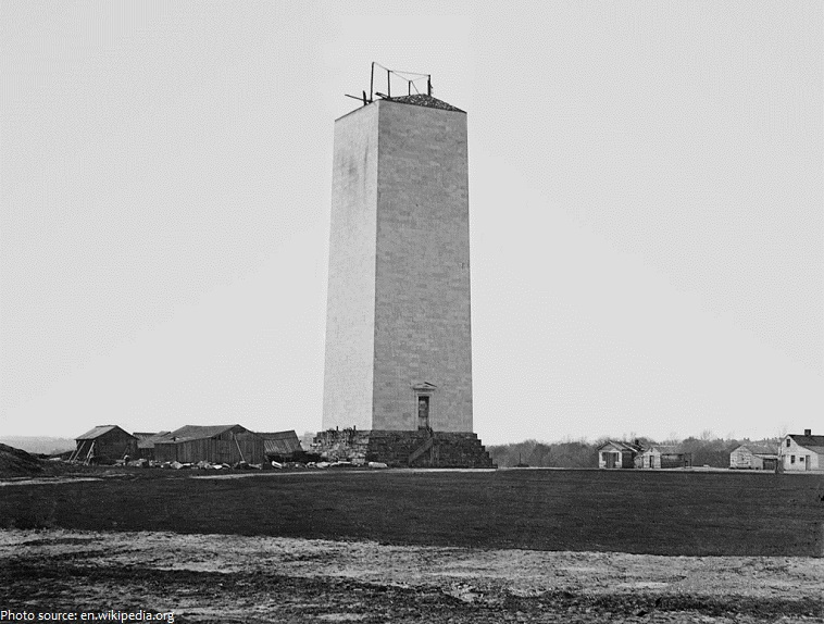 washington monument construction