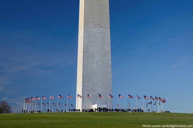 washington monument flags
