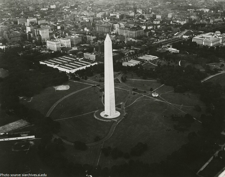 washington monument old photo