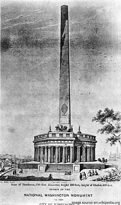 washington monument original design