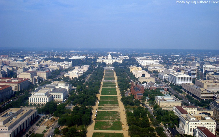 washington monument view from observation deck