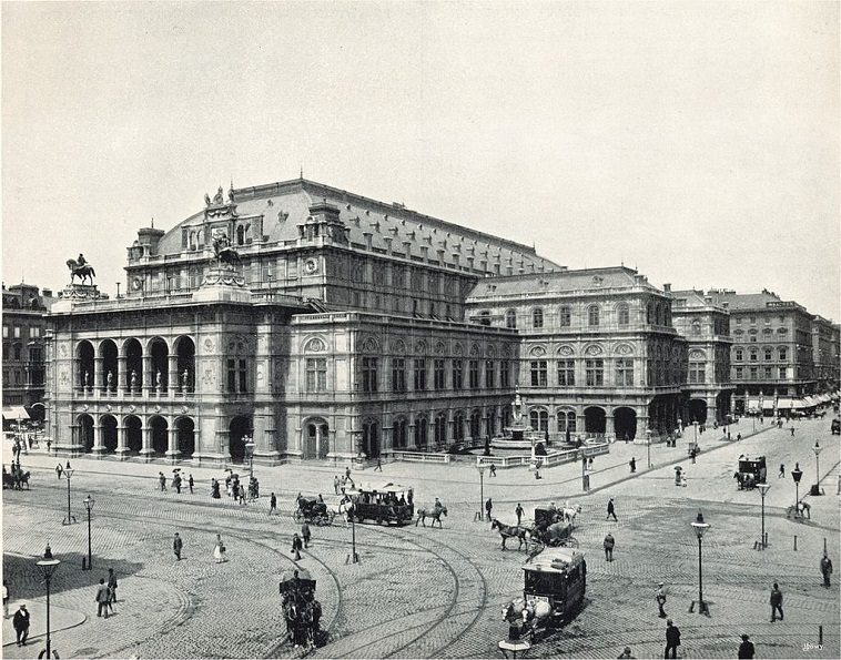 vienna state opera old photo