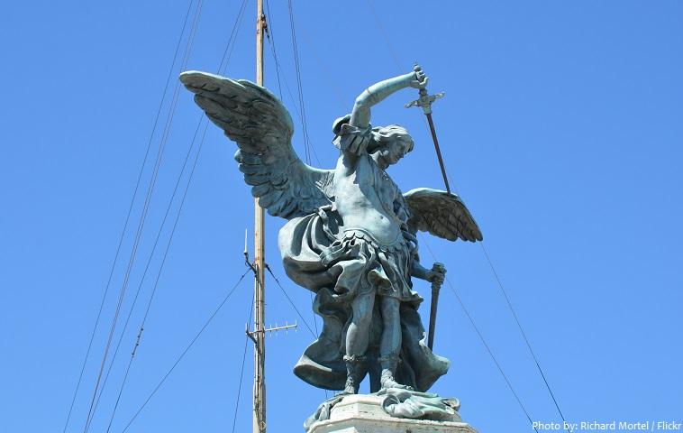 archangel michael statue