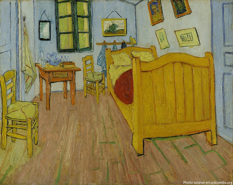 bedroom in arles van gogh
