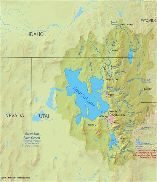 great salt lake drainage basain
