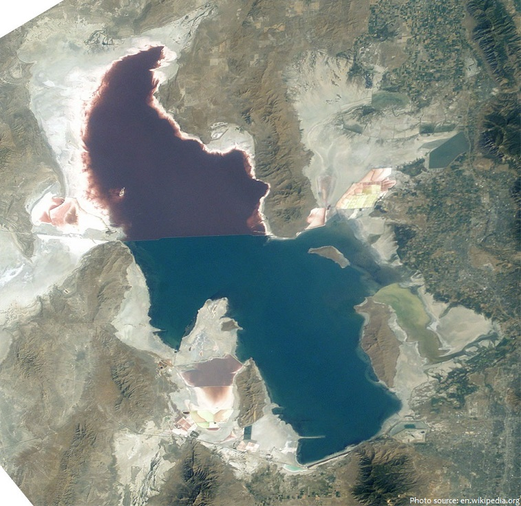 great salt lake from space