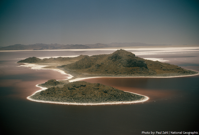 great salt lake island