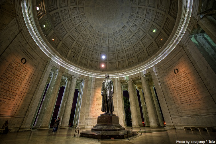 jefferson memorial inside