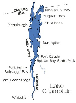 lake champlain map