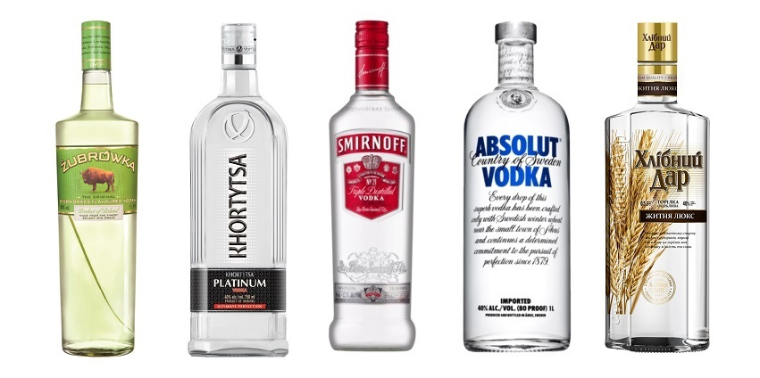 top 5 best selling vodka brands