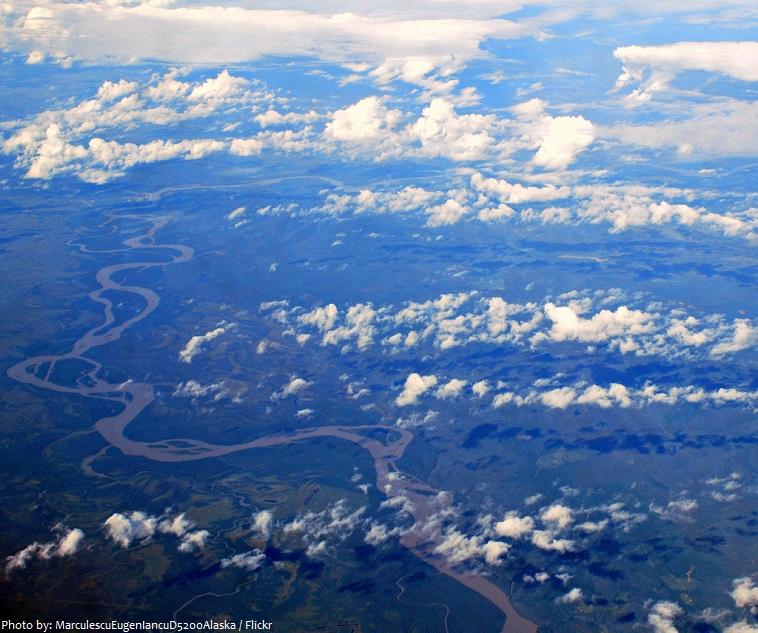 yukon river aerial