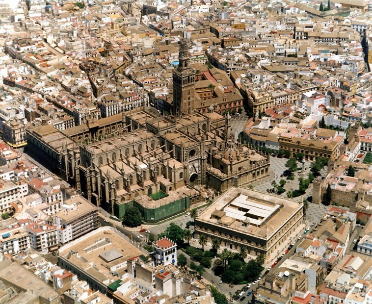 seville cathedral aerial