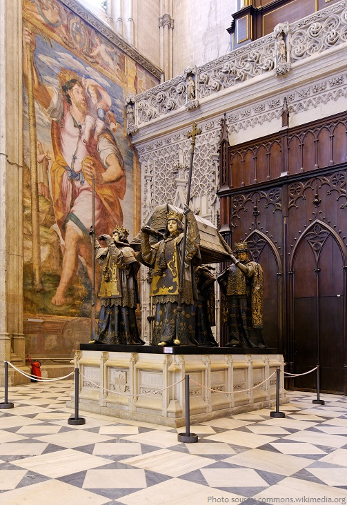 seville cathedral tomb of christopher columbus