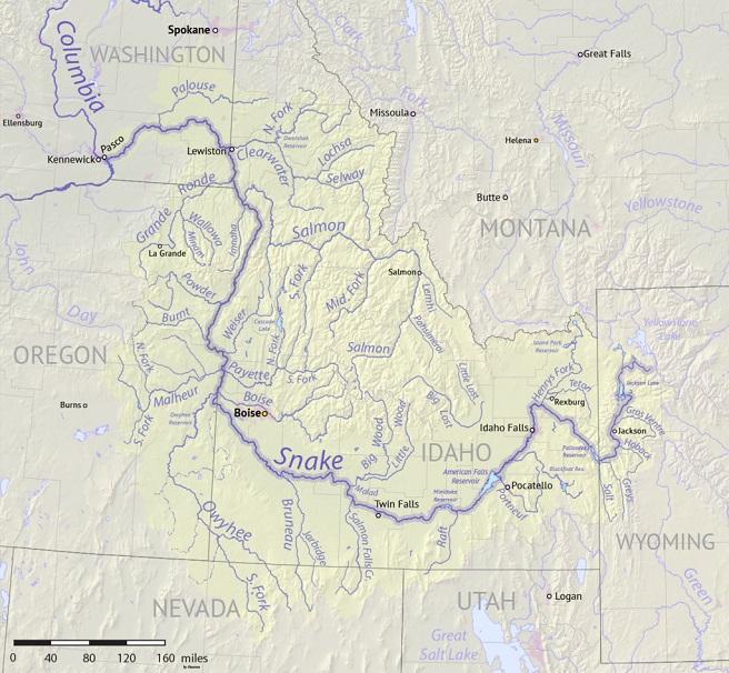 snake river drainage basin