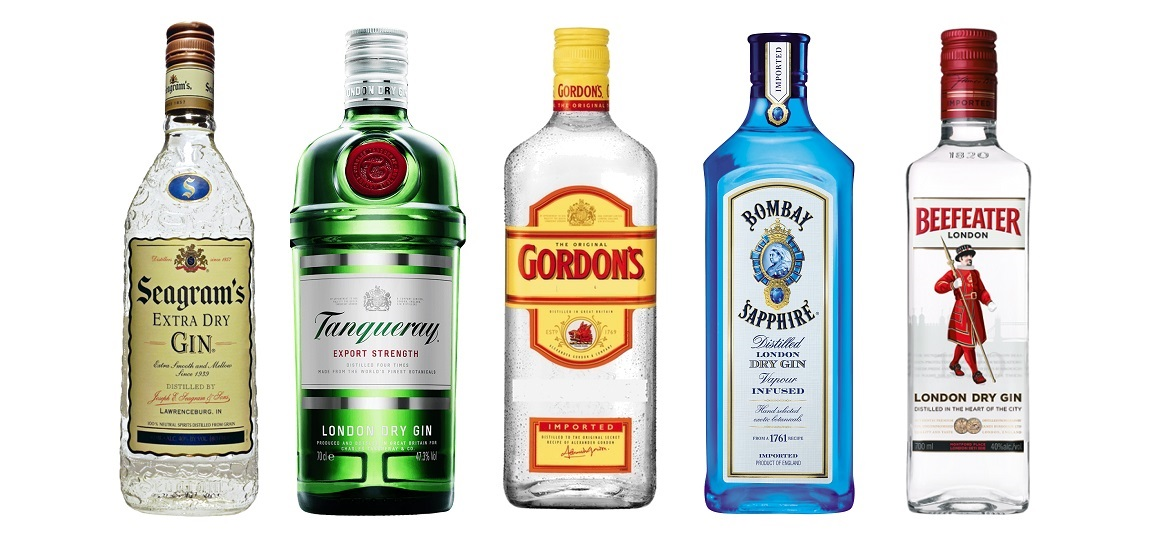 top 5 best selling gin brands