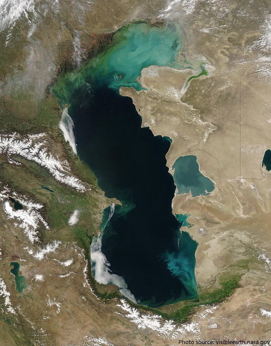 caspian sea from space