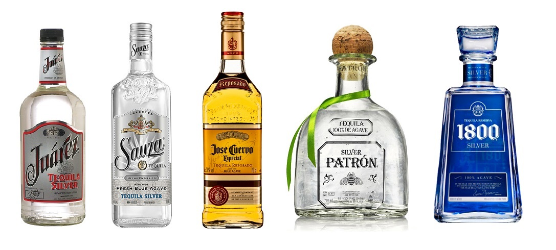top 5 best selling tequila brands in the world