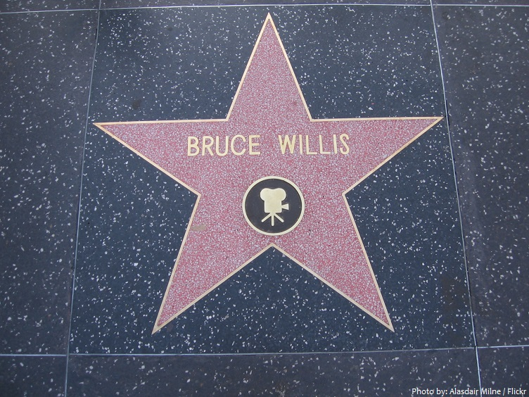 bruce willis star on the hollywood walk of fame