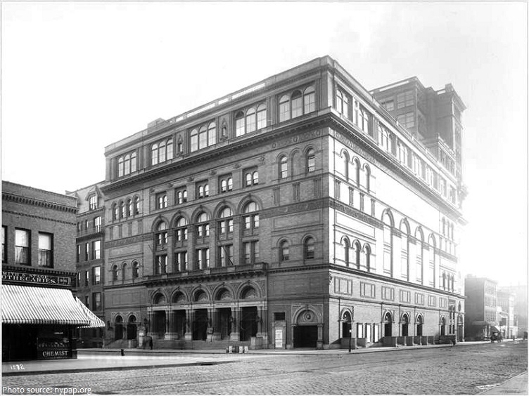 carnegie hall old photo