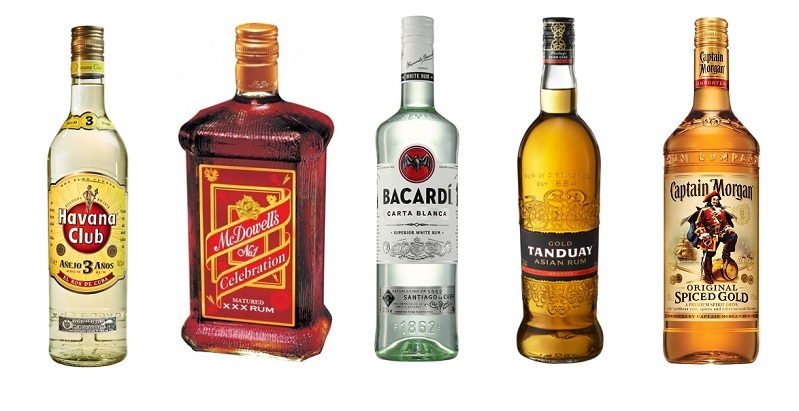 top 5 best selling rum brands in the world