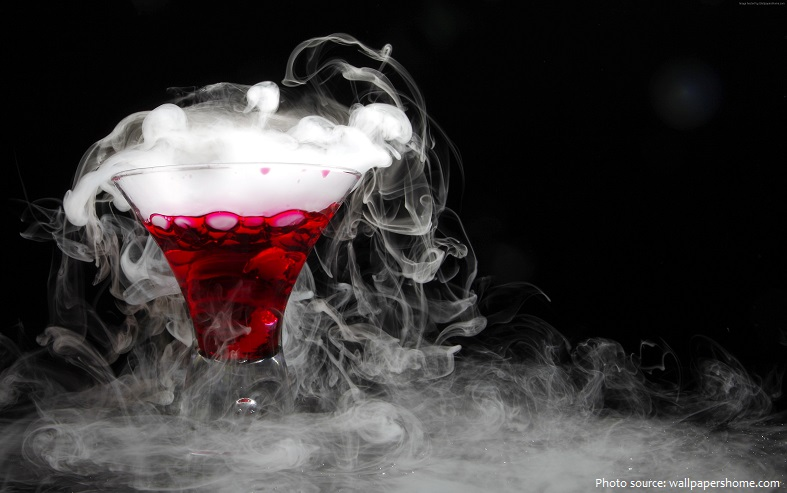 cocktail dry ice