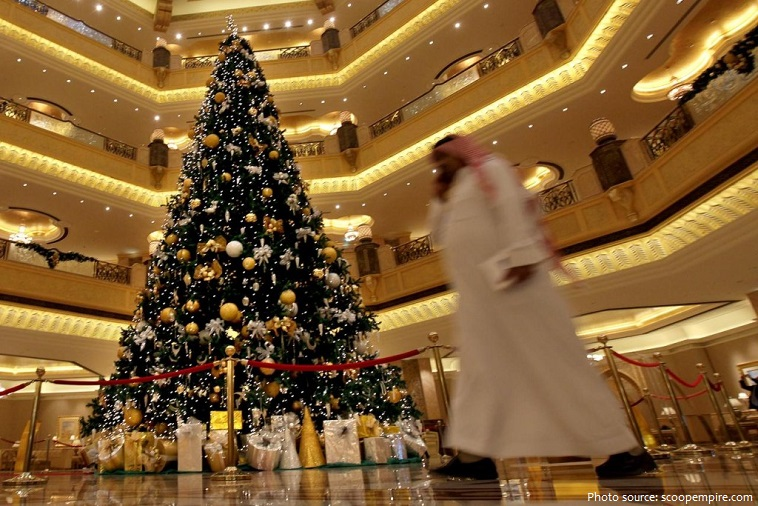 the most expensively dressed Christmas tree