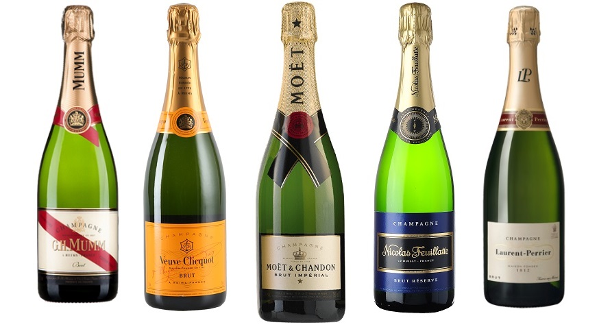 top 5 best selling champagne brands in the world