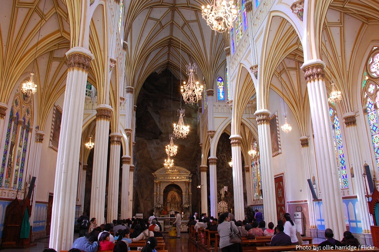 las lajas sanctuary inside
