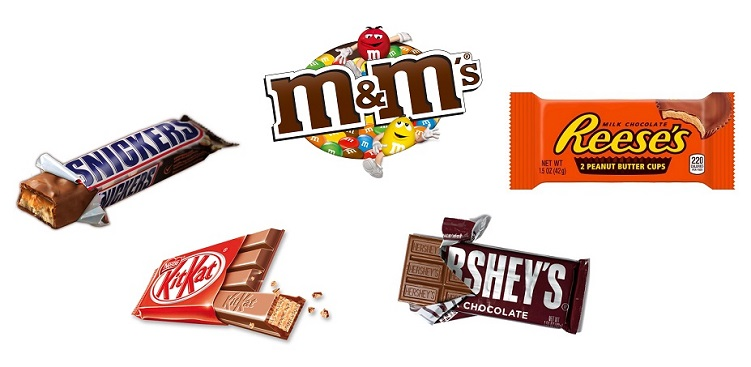 top 5 best selling candies- in the united states