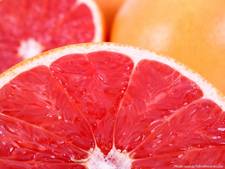grapefruit flesh