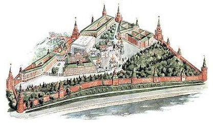 moscow kremlin drawing